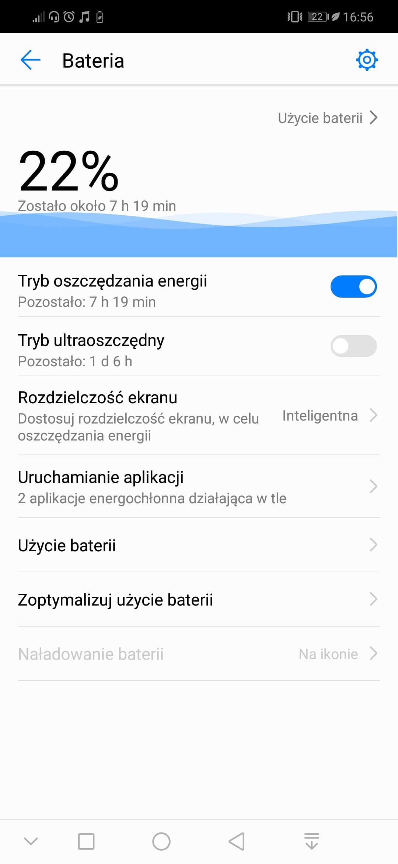 zarządzanie energią - bateria