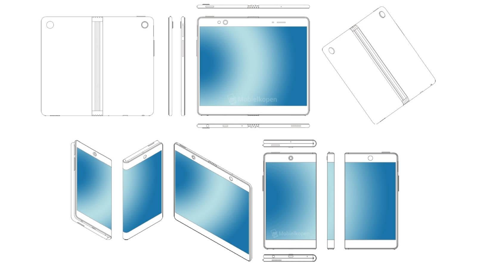 oppo składany telefon patent