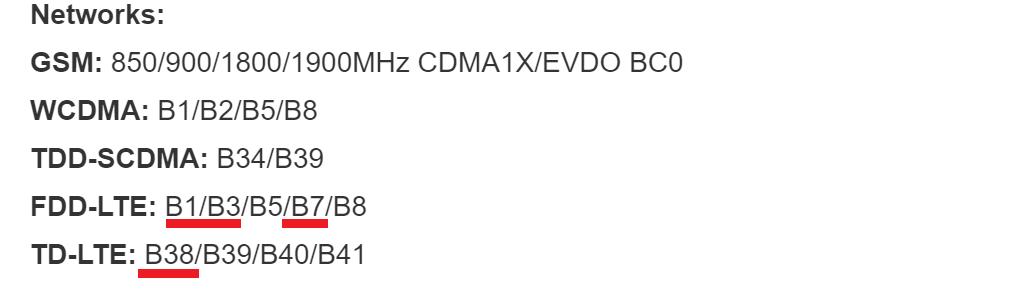 wypis częstotliwości Mi 6