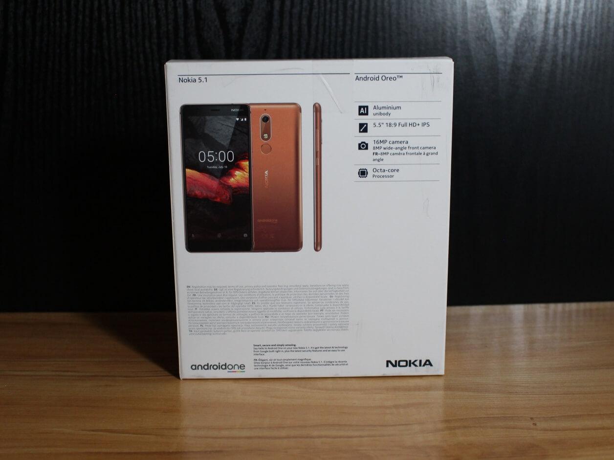 Nokia 5.1 pudełko tył