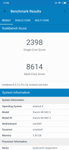 xiaomi mi mix 3 geekbench