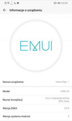 honor play emui 9 andorid pie 2