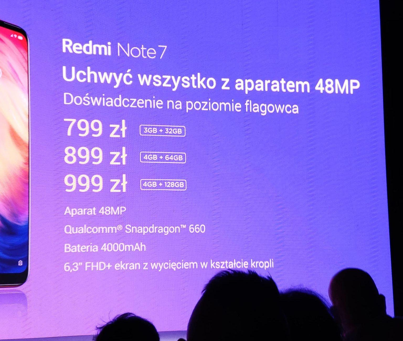 Redmi Note 7 premiera Polska