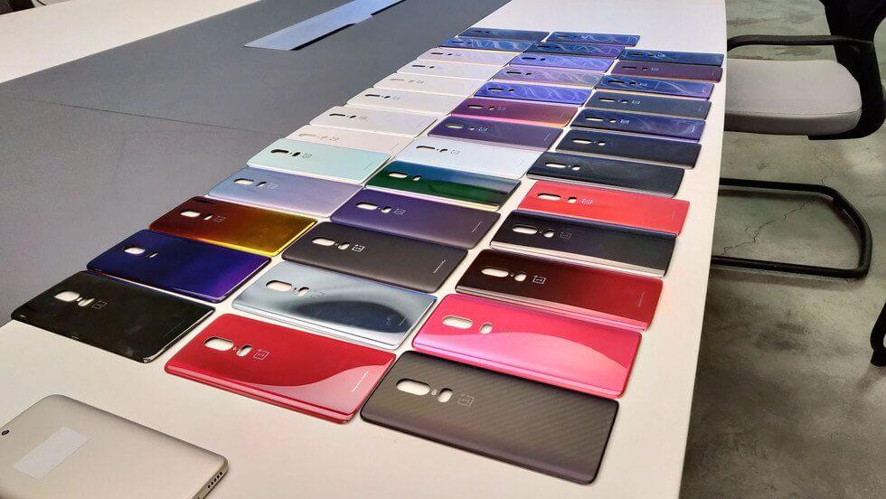 OnePlus 6 kolory