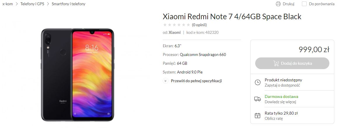 redmi note 7 by xiaomi