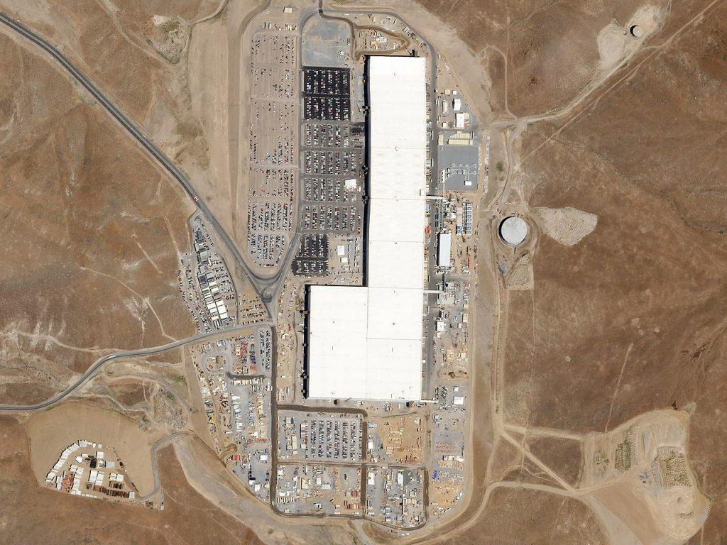 Tesla Gigafactory z lotu ptaka