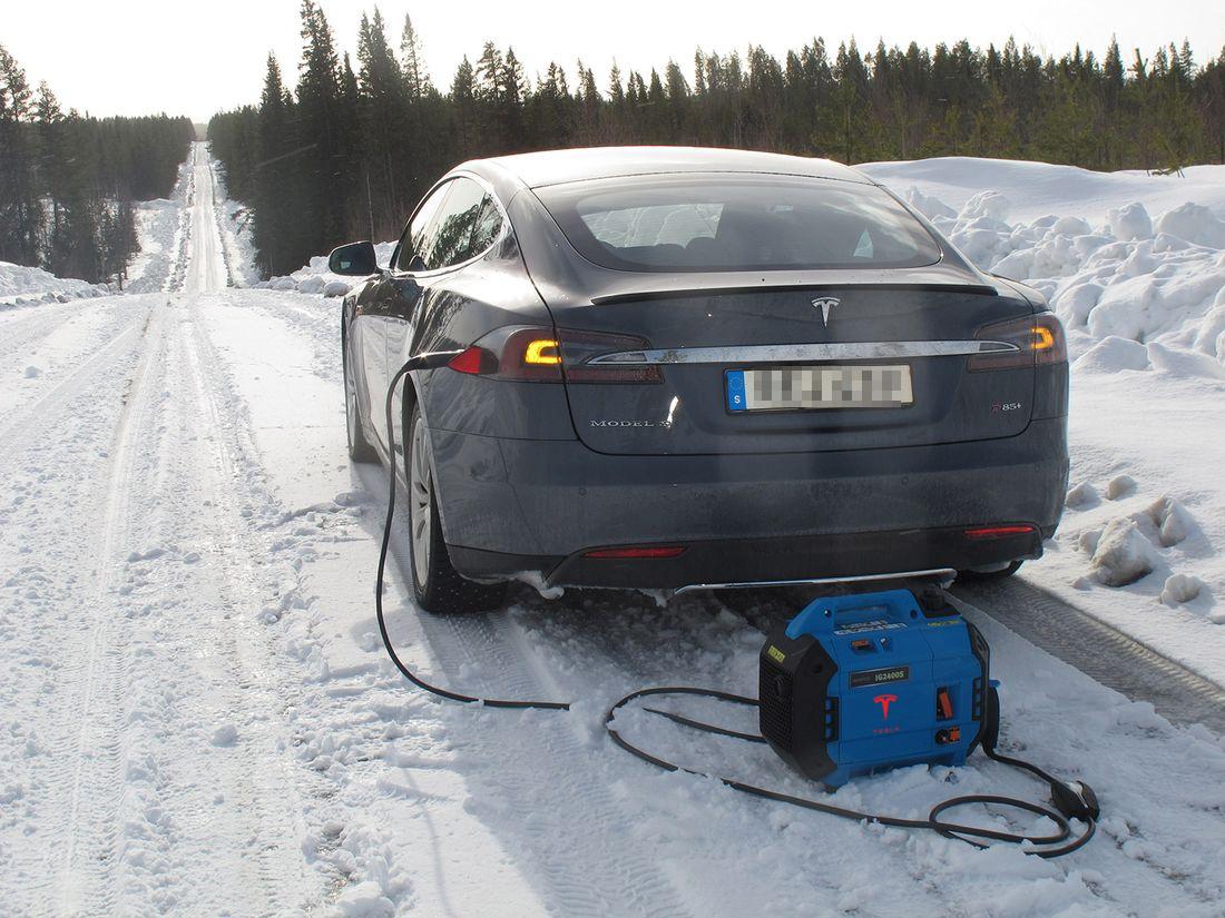 Tesla Supercharger Mobile Range Extender