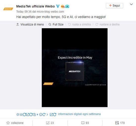 Weibo Mediatek