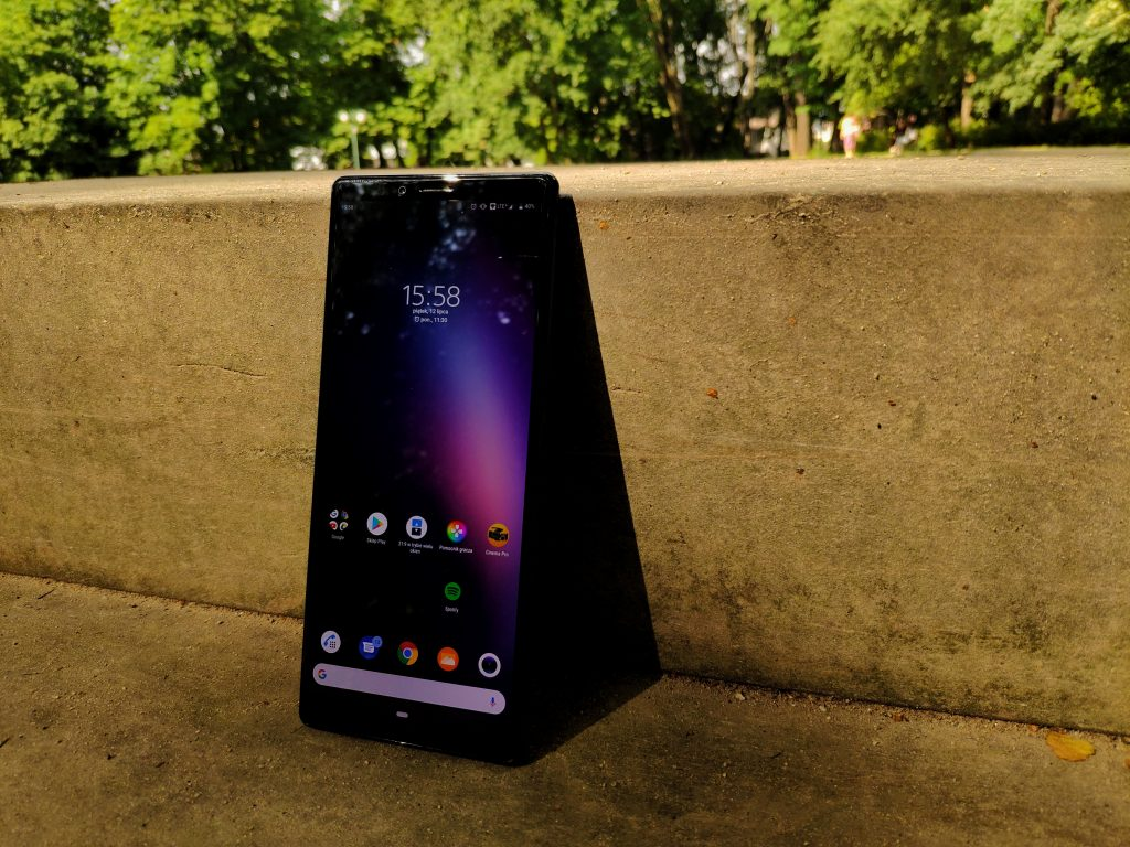 sony xperia 1 front