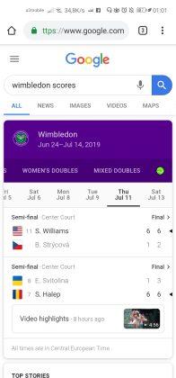 wimbledon scores android