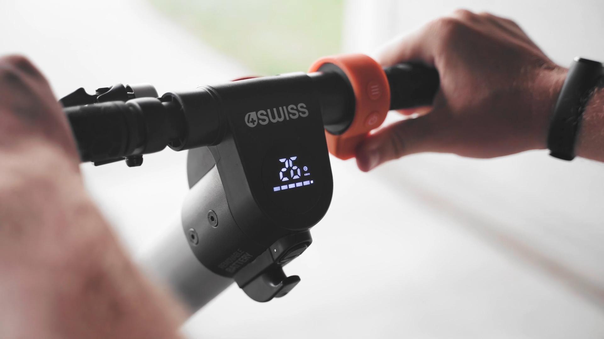 4swiss e-orange ex4 wyświetlacz prędkość