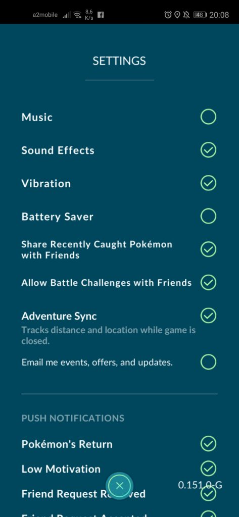 pokemon go adventure sync