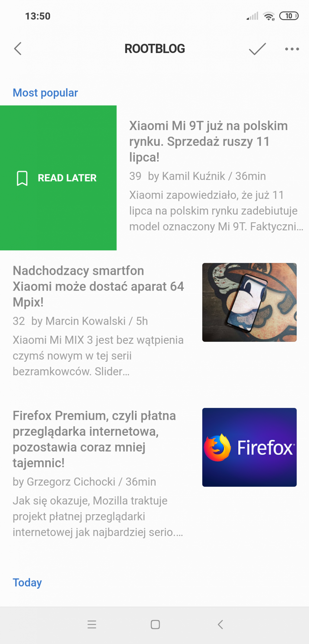 Feedly ROOTgear Huberta