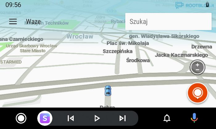 Android Auto nowy interfejs mapa