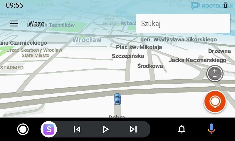 Android Auto nowy interfejs mapa