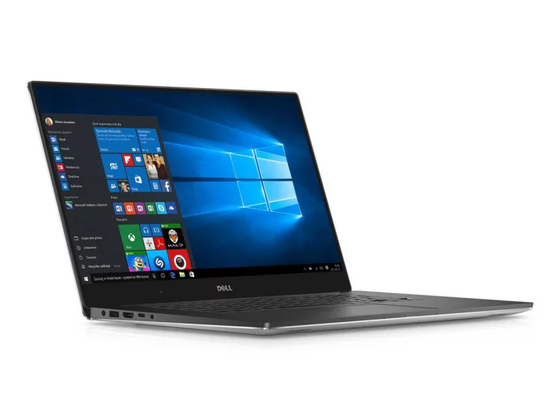 dell xps 9550 od boku otwarty