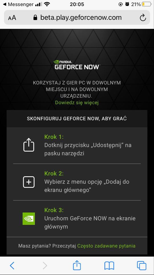 GeForce NOW Apple